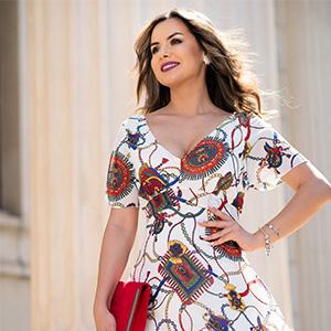 Rochiile Perla Donna: imprimeuri unice, culori deosebite ...
