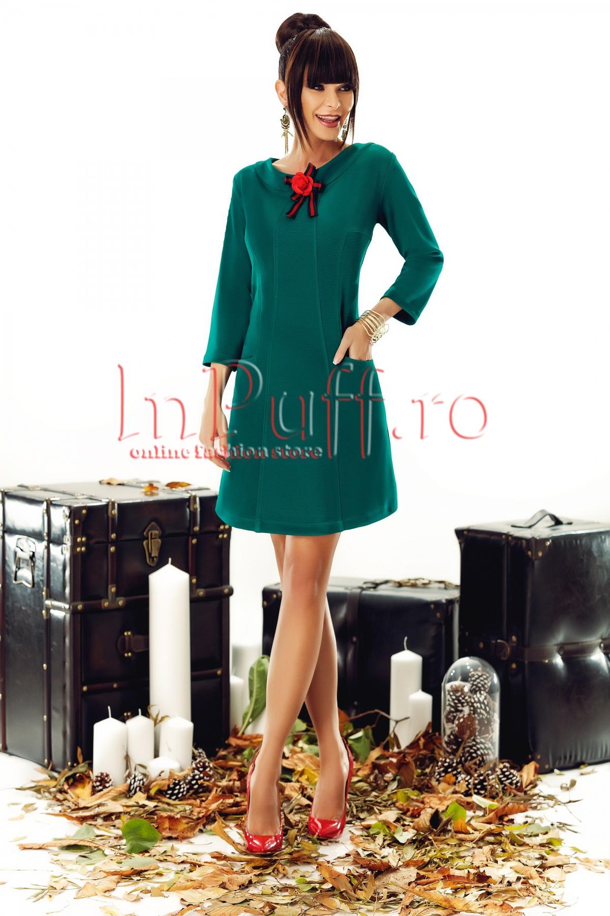 Rochie eleganta turquoise