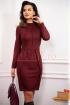 Rochie casual grena din tricot elastic