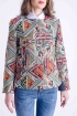 Jacheta eleganta din brocard imprimat