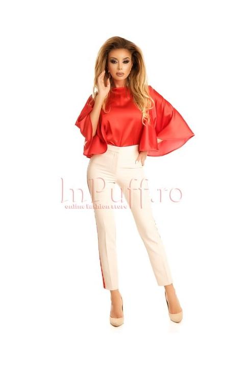 Pantaloni cu vipusca rosie