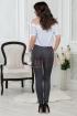 Pantaloni negri office cu buline albe