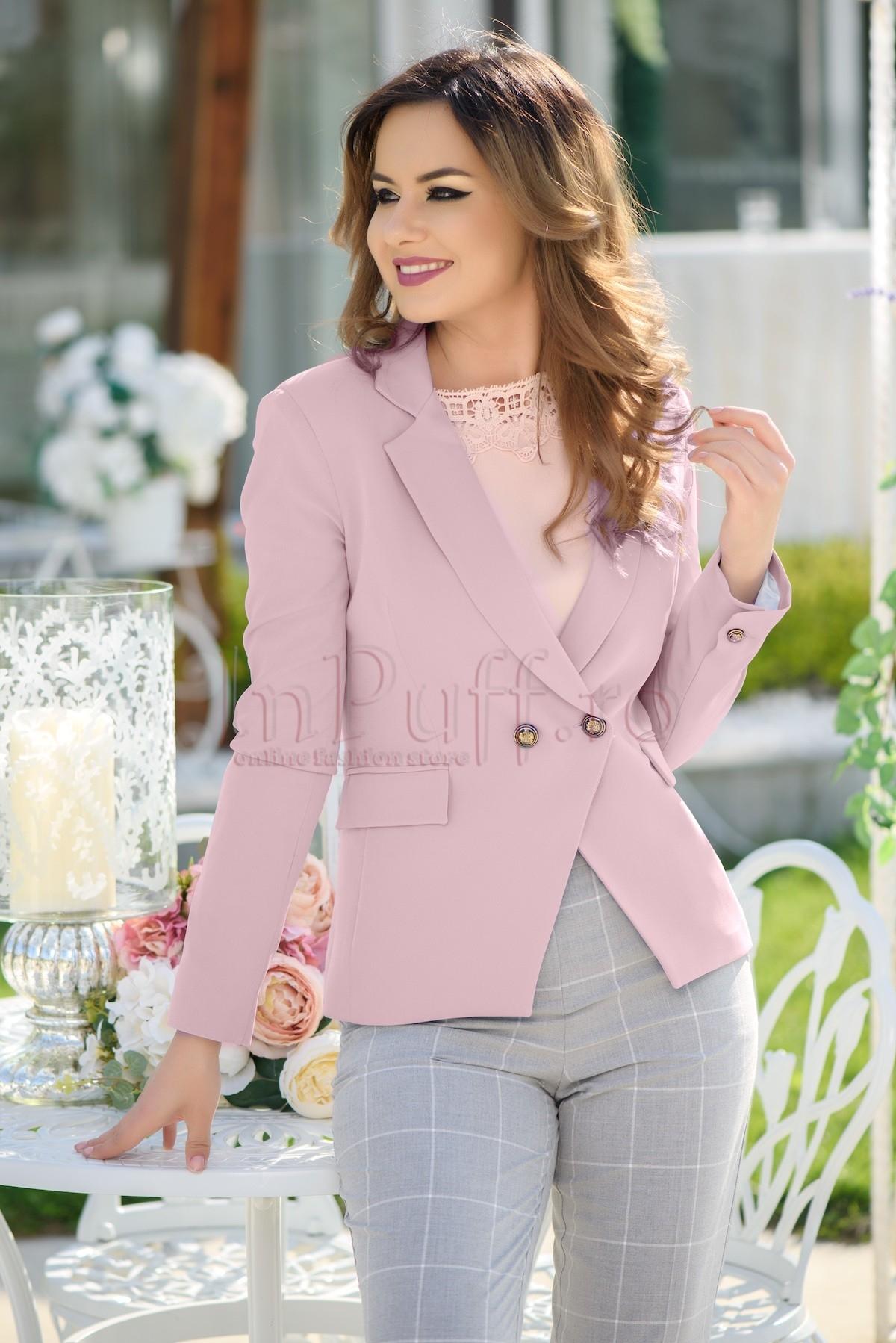 Sacou elegant roz pal dama