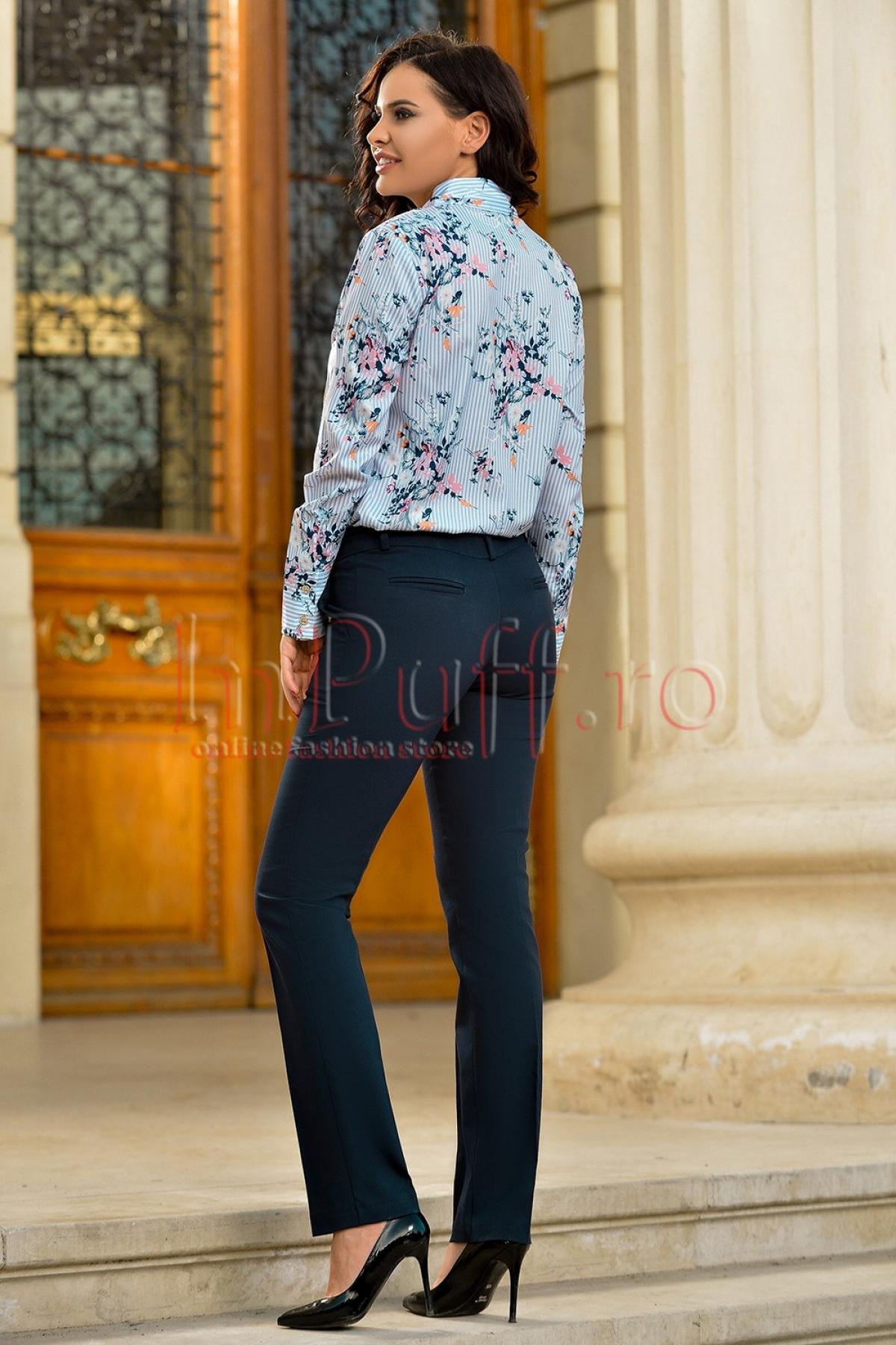 Camasa eleganta cu imprimeu floral
