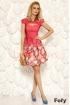 Rochie Fofy eleganta corai cu imprimeu colorat