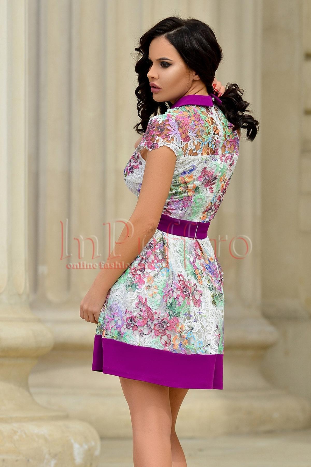 Rochie eleganta din dantela brodata