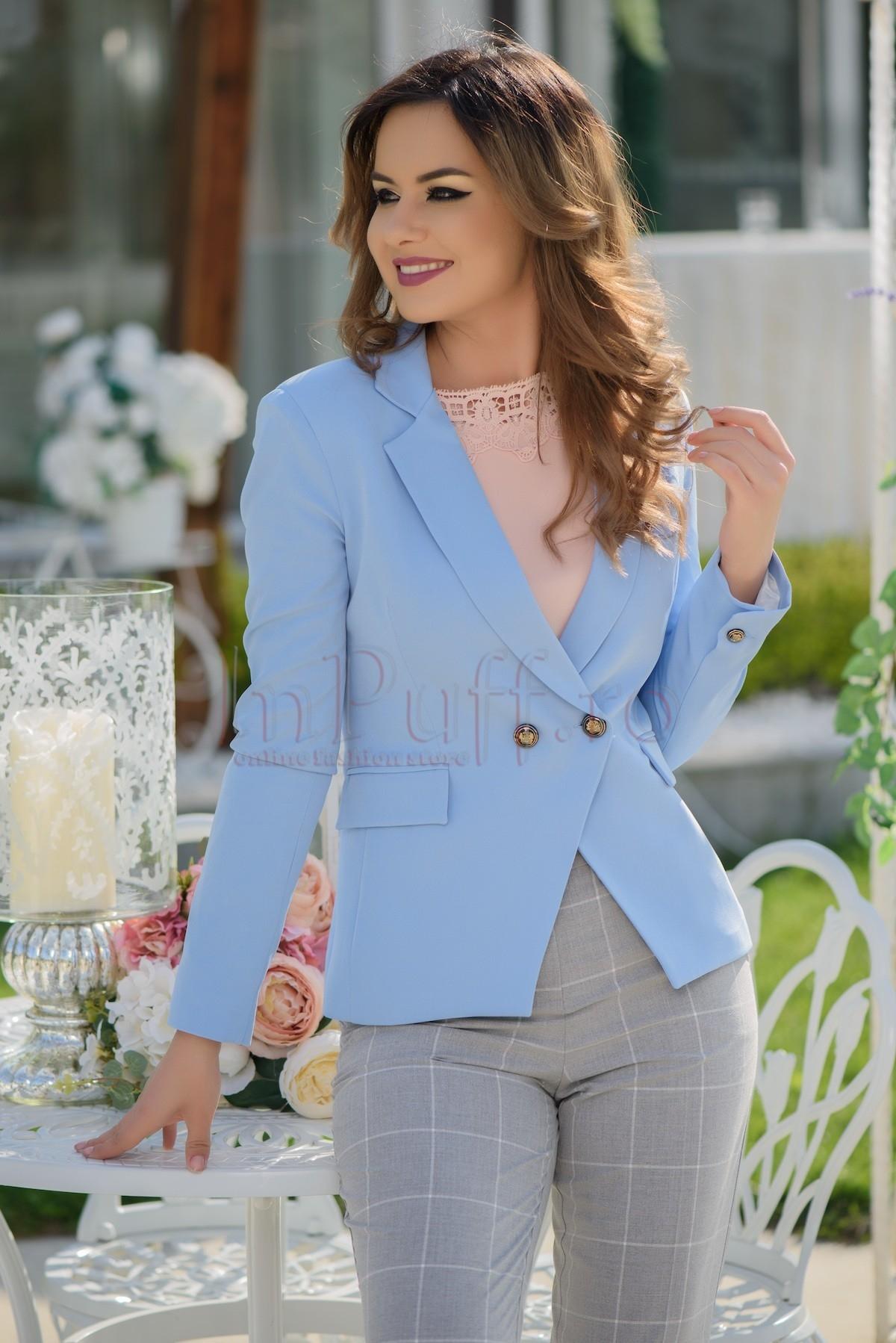 Sacou dama casual bleu