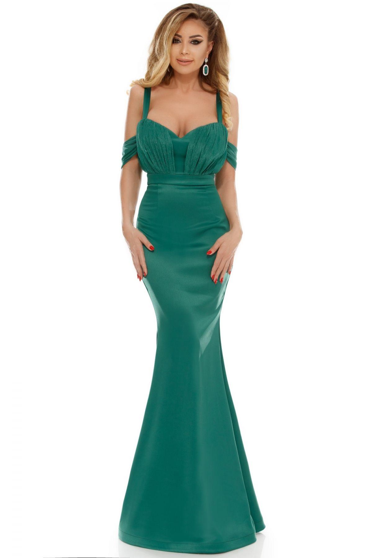 Rochie Atmosphere sirena din tafta verde Atmosphere