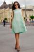 Rochie eleganta verde mint din crep