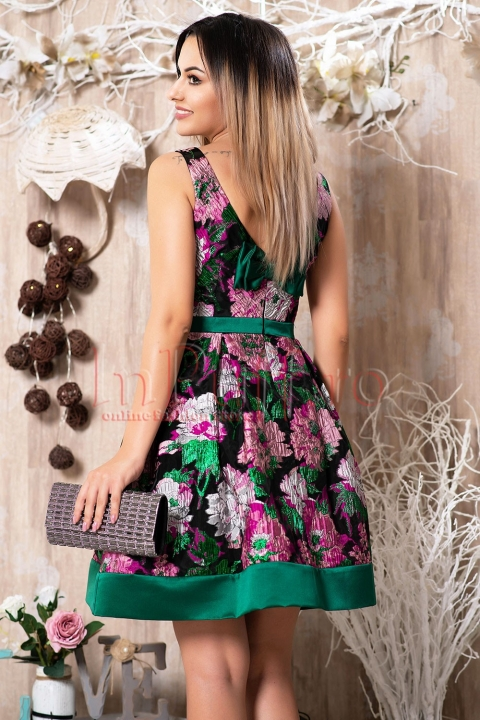 Rochie MBG de ocazie cu flori brodate