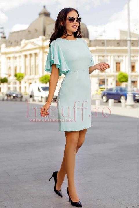 Rochie eleganta verde mint