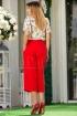 Pantaloni rosii lejeri trei sferturi