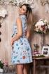 Rochie de zi Xara cu dungi si imprimeu