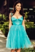 Rochie Atmosphere turquoise de ocazie baby-doll