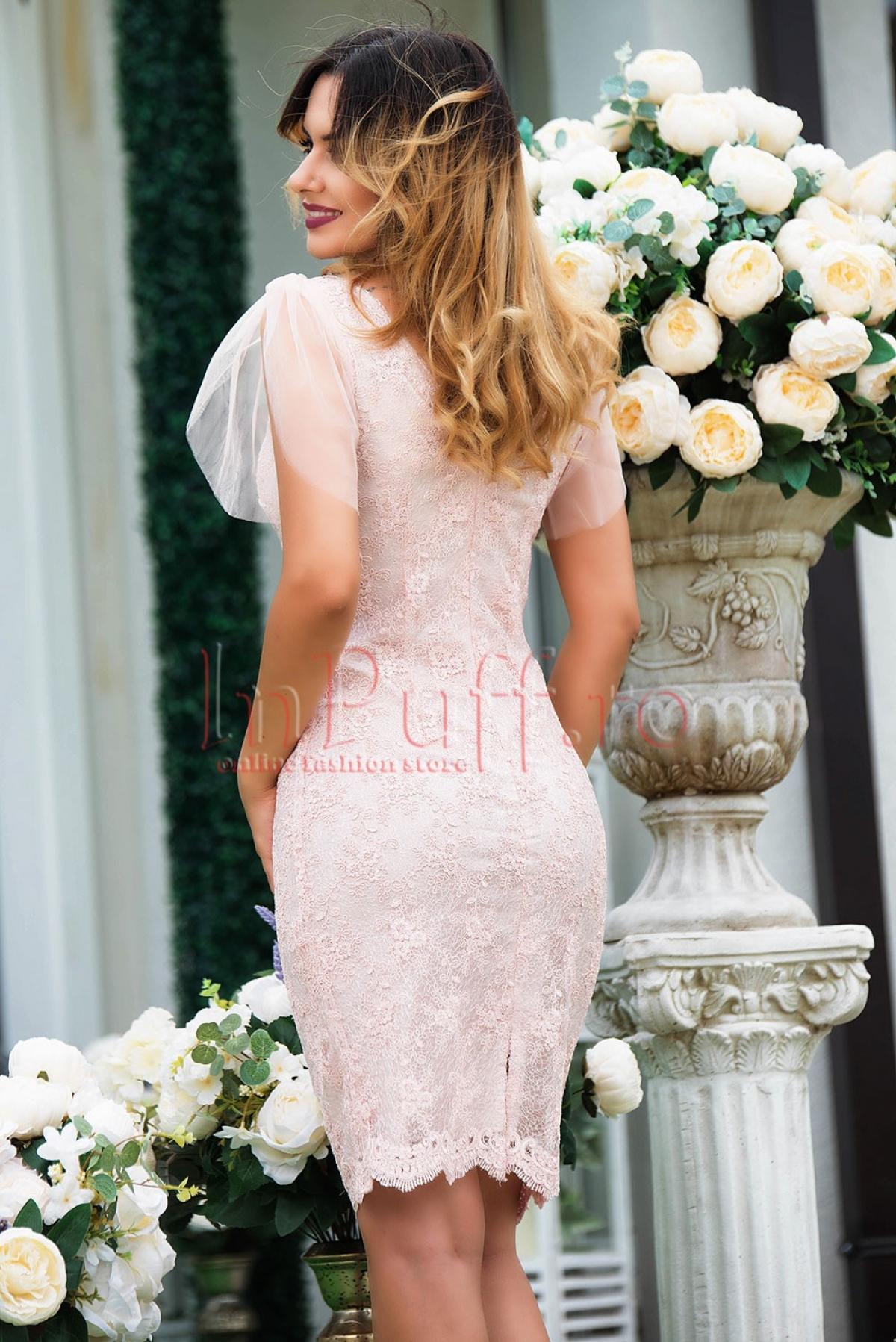 Rochie Xara de ocazie roz pal