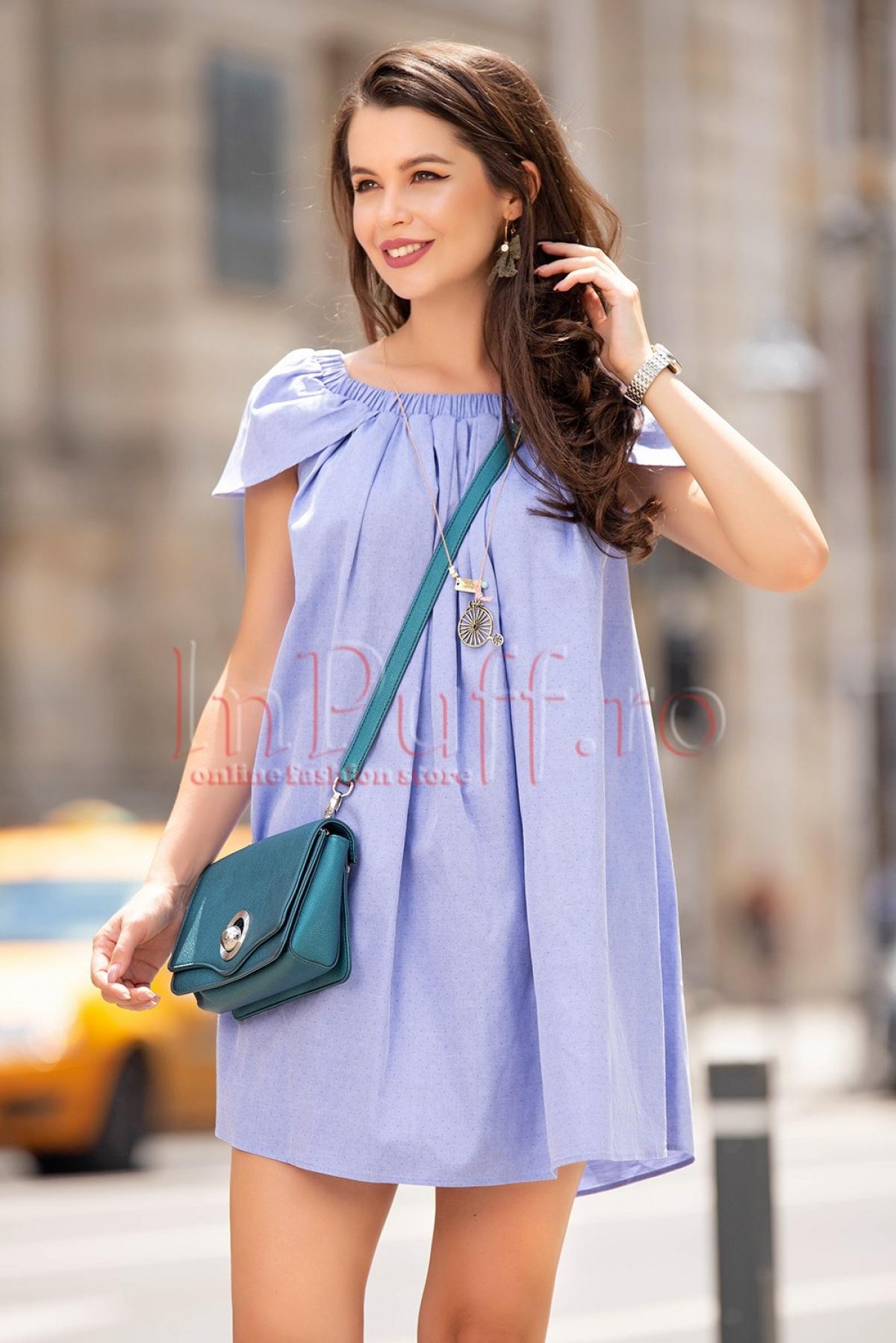 Rochie Pretty Girl lejera bleu