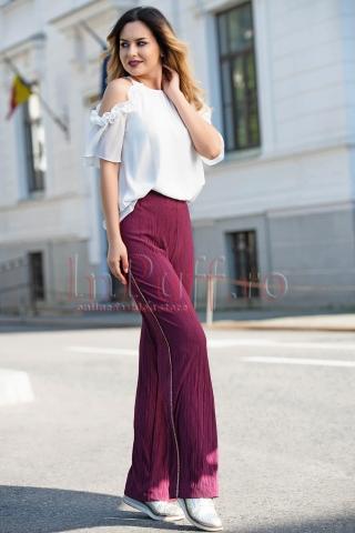 Pantaloni Venezia lejeri mov din crep