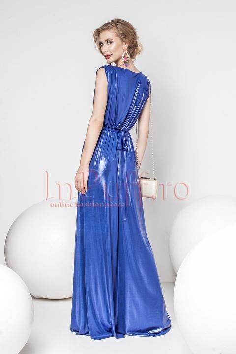 Rochie Pretty Girl lunga de seara albastru electric