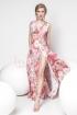 Rochie Pretty Girl lunga roz cu imprimeu floral