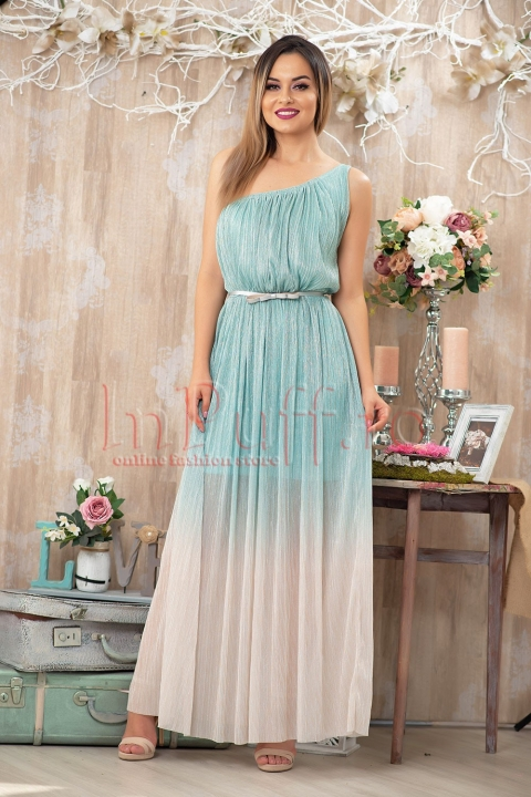Rochie Pretty Girl de seara lunga in degrade din crepe