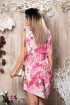 Rochie Pretty Girl lejera roz cu imprimeu floral