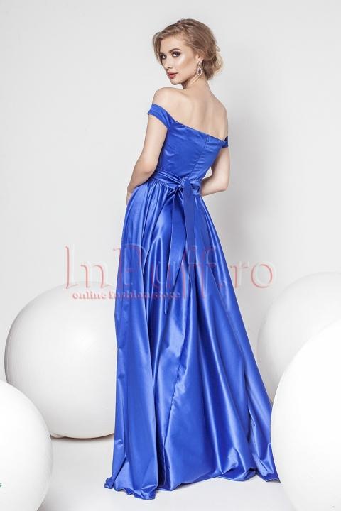 Roche Pretty Girl eleganta albastra din tafta