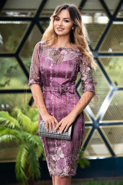 Rochie MBG de ocazie din dantela lila