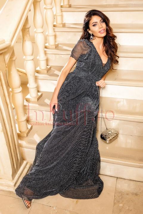 Rochie de ocazie lunga argintie