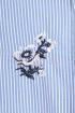 Camasa bleu cu dungi albe si flori brodate