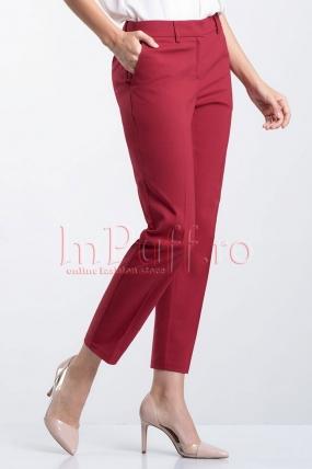 Pantaloni dama bordeaux din tercot