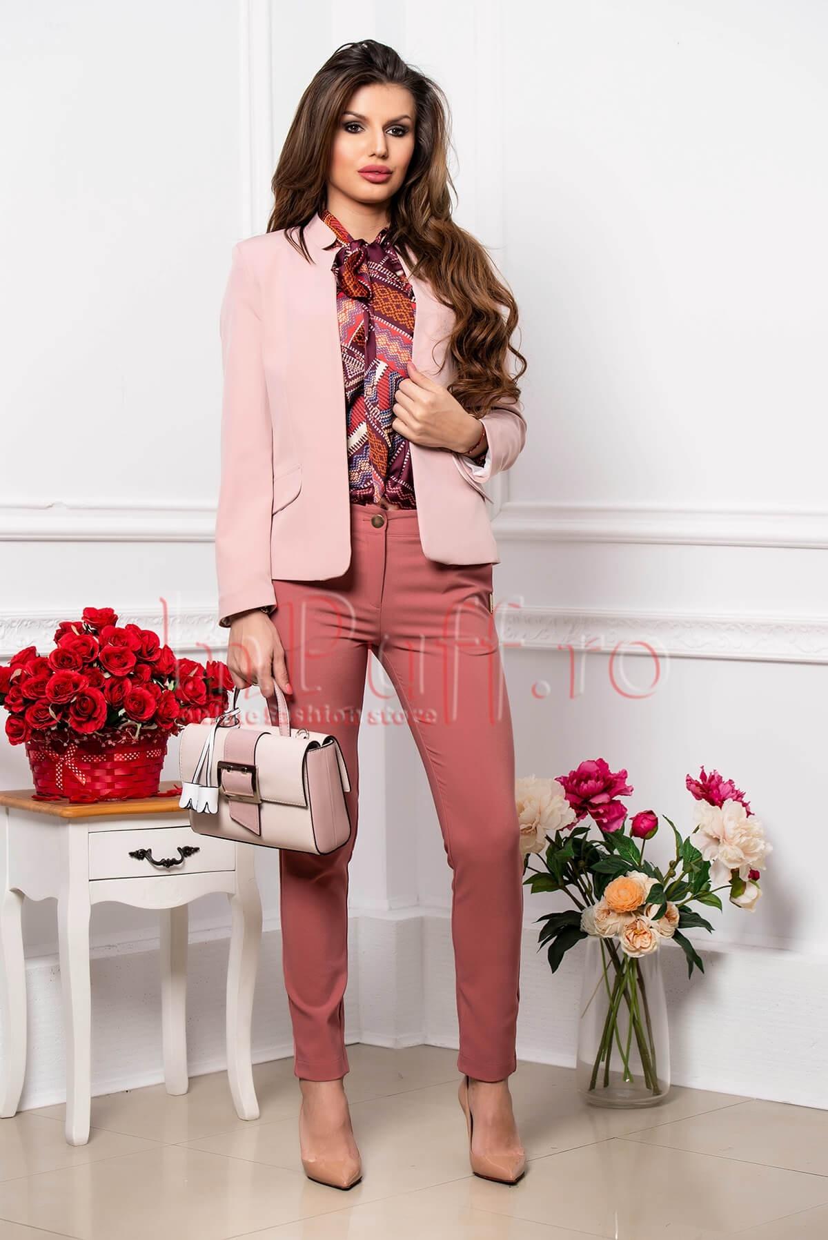 Pantaloni Pretty Girl eleganti cu fundite