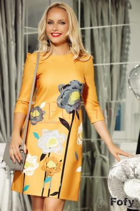 Rochie din tafta cu imprimeu tip desen