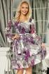 Rochie lejera din voal cu imprimeu floral