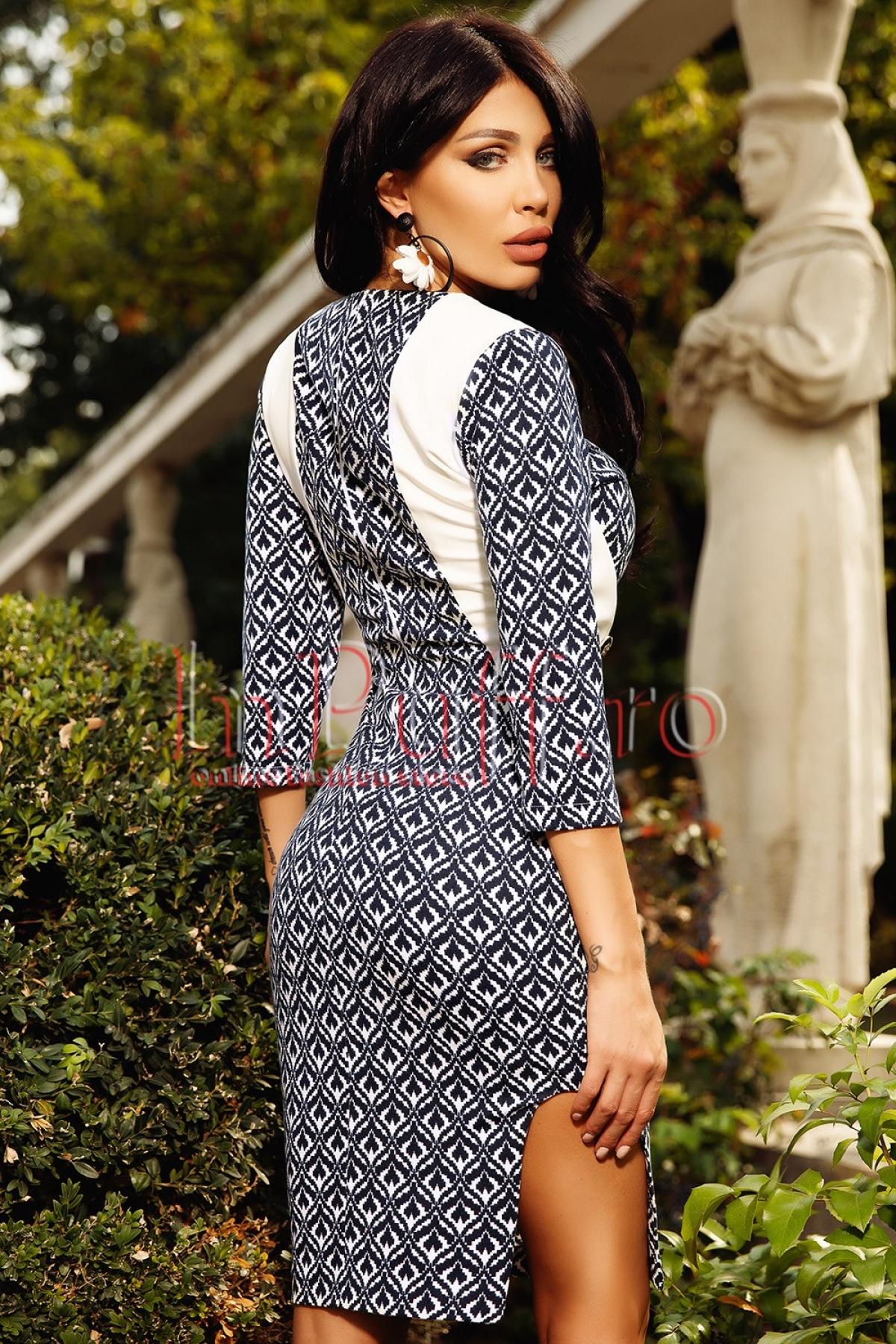 Rochie de zi imprimata din jerse