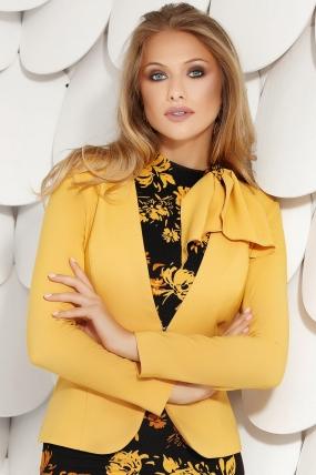 Sacou dama elegant galben-mustar Fofy