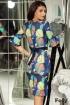 Rochie bleumarin cu imprimeu