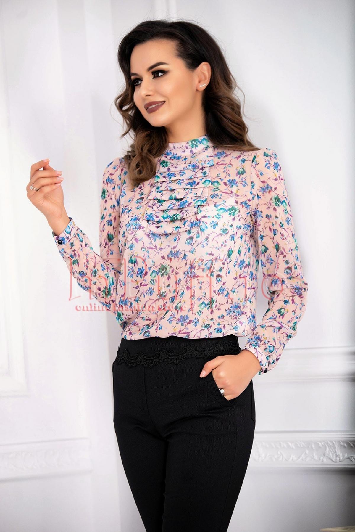 Bluza cu imprimeuri florale