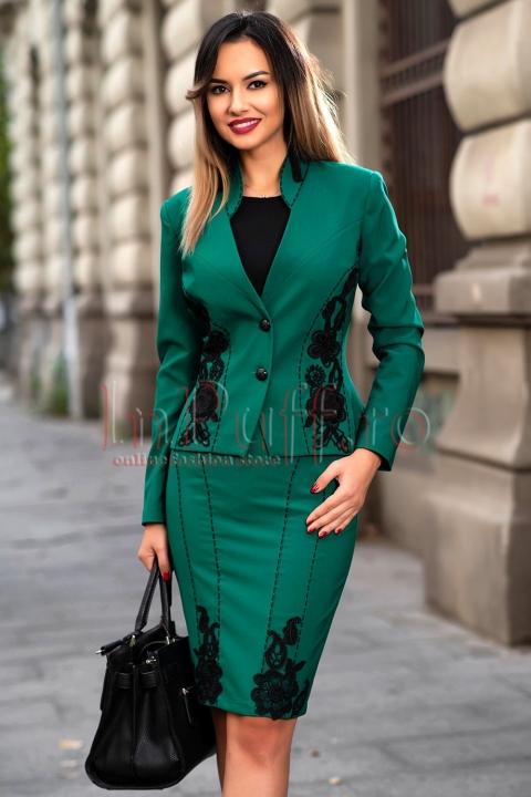 Compleu elegant de dama verde
