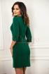 Rochie Xara verde din stofa cu funda