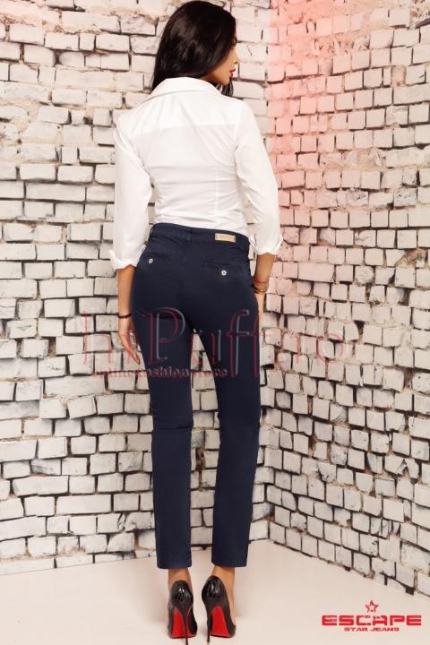 Pantaloni Sanko bleumarin de dama