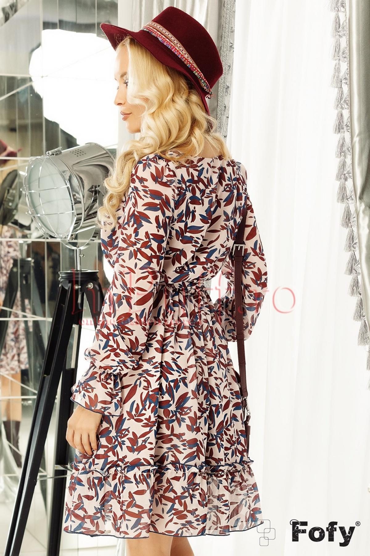Rochie din voal cu imprimeu