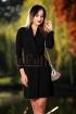 Rochie neagra cu decolteu petrecut