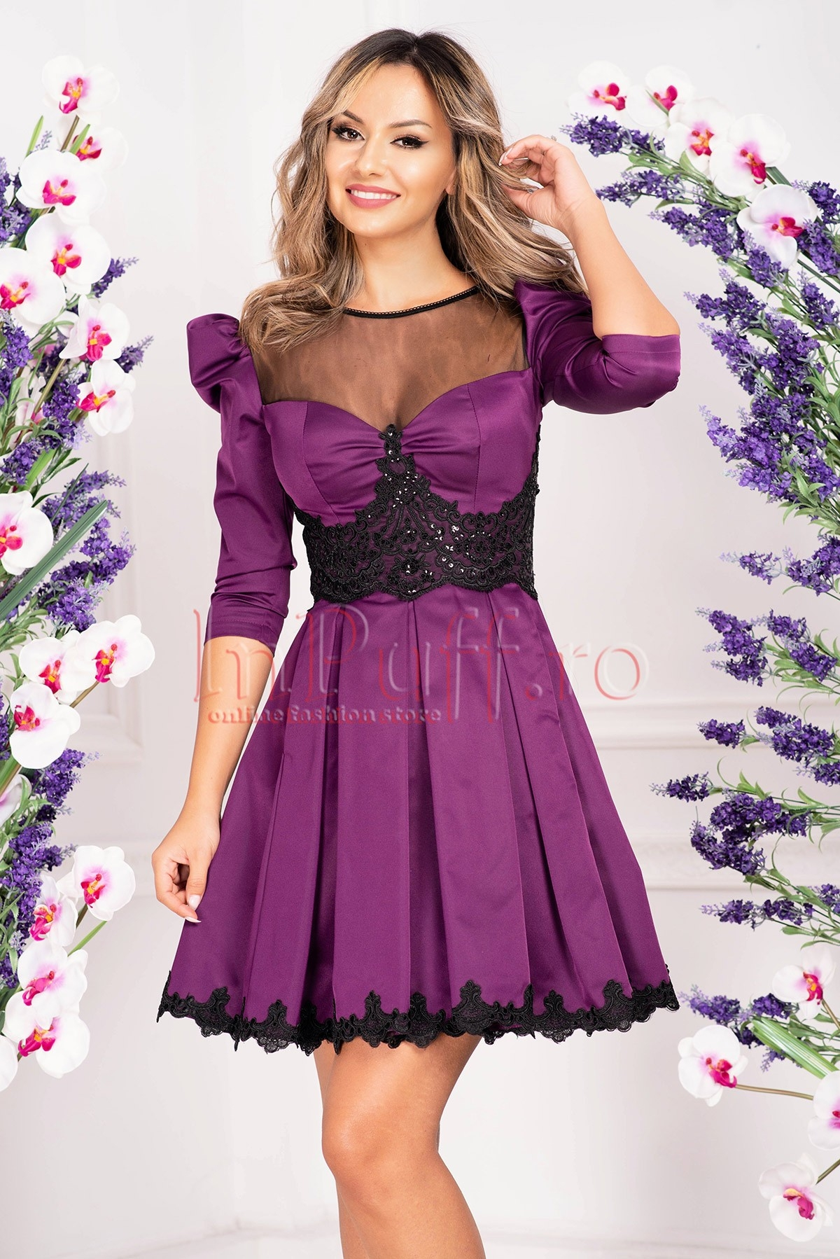 Rochie Atmosphere baby-doll din tafta