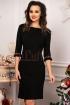 Rochie  neagra tricotata cu fir lame auriu