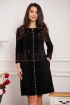 Rochie neagra eleganta cu volanase verticale