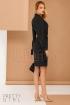 Rochie conica din stofa Pretty Girl de culoare neagra eleganta