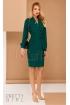 Rochie conica din stofa Pretty Girl de culoare verde eleganta