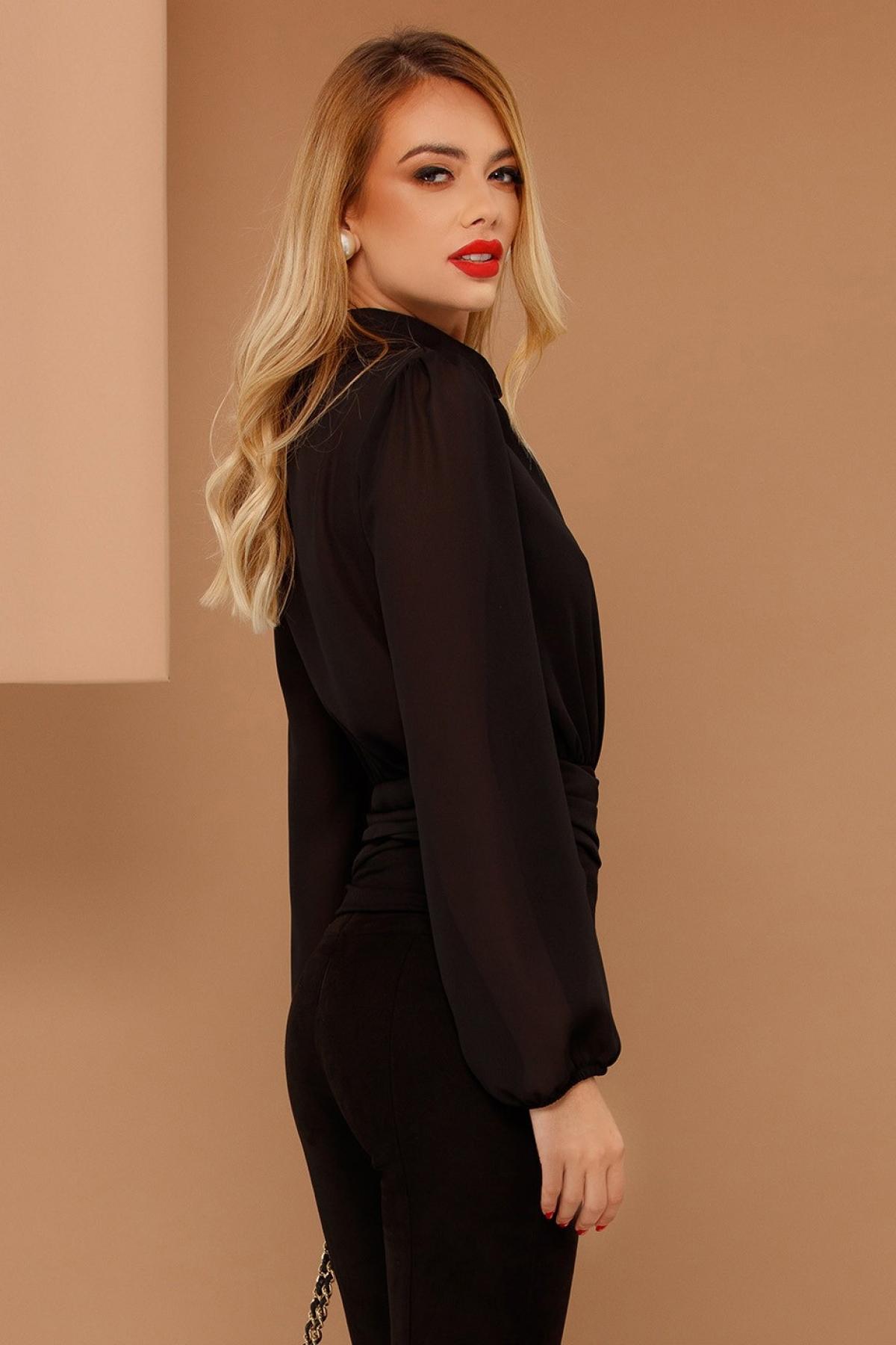 Bluza lejera neagra din voal Pretty Grirl