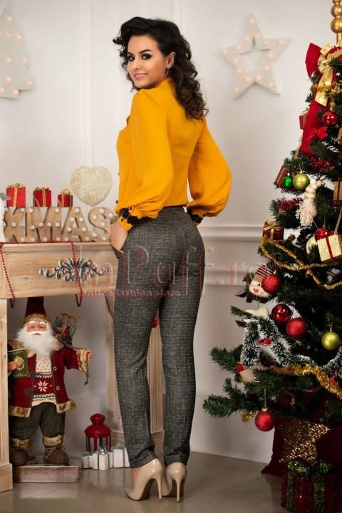 Pantaloni Fofy eleganti din stofa cu buzunare laterale