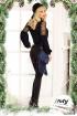 Pantaloni negri conici Fofy din piele ecologica